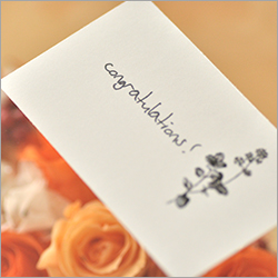 コンセプトのお祝いの花 メッセージカード